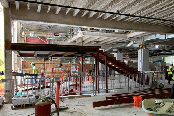The beautiful stairs are taking shape, connecting our first and second floors once again.